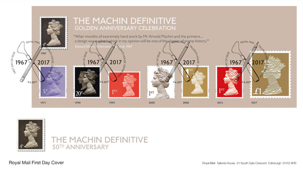 Machin Definitive Golden Anniversary Celebration Minisheet First Day Cover (3773582)