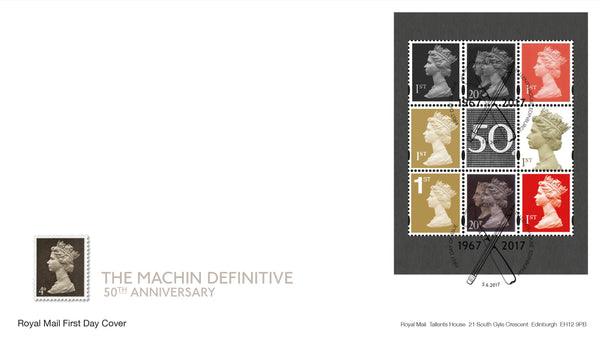 Machin Definitive Anniversary Prestige Stamp Book Pane with the Double Head First Day Cover (3773701)