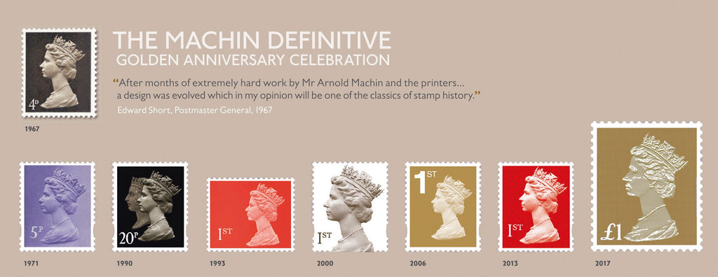 Machin Definitive Golden Anniversary Celebration Stamp Sheet (3773531)