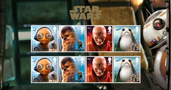 STAR WARS™ 2017 Aliens & Creatures Official Stamp Set