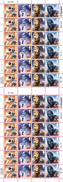 STAR WARS™ 2017 Droids Official FULL Stamp Sheet of 48