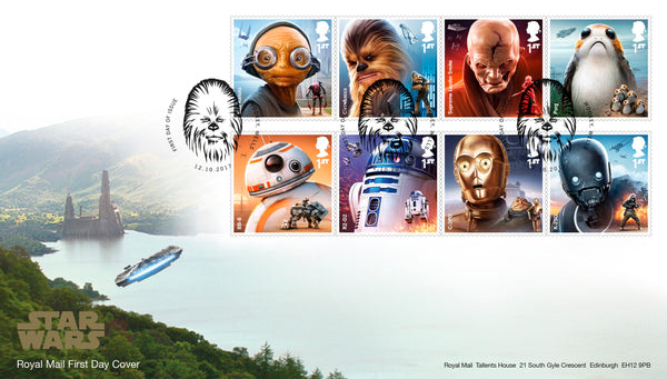 STAR WARS™ 2017 Official First Day Cover with Chewbacca Postmark