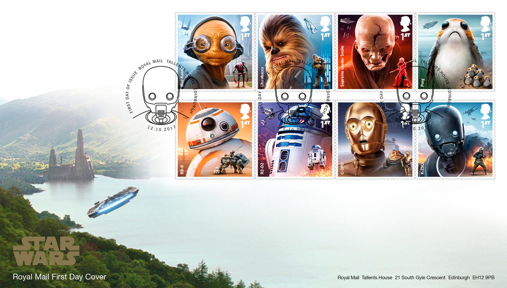 STAR WARS™ 2017 Official First Day Cover with K-2SO Postmark