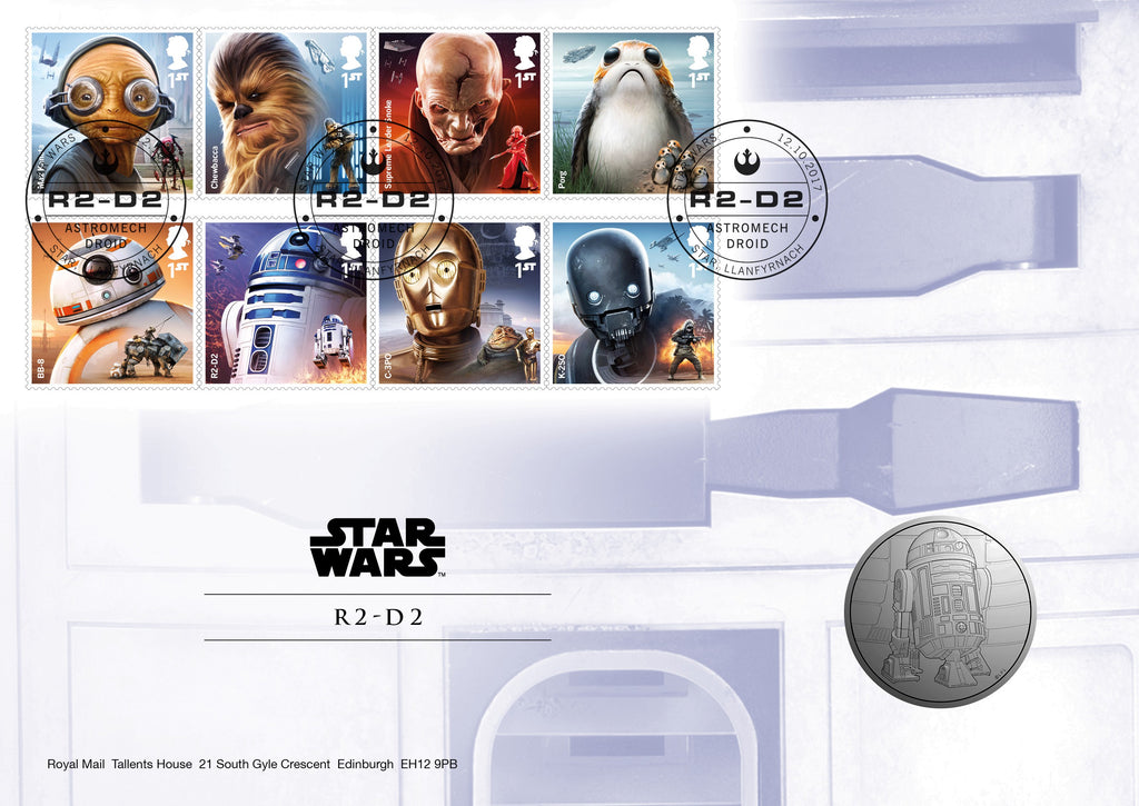 STAR WARS™ 2017 R2-D2 Official Medal First Day Cover