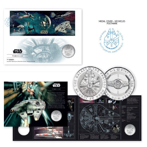 STAR WARS™ 2015 Vehicles Medal Cover 3770869