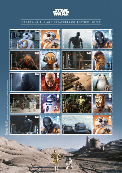 STAR WARS™ 2017 Droids, Aliens & Creatures Official Collectors' Sheet