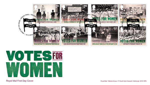 Votes for Women Stamp First Day Cover