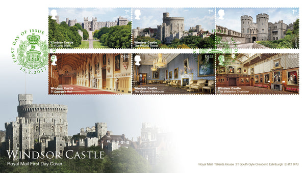 (h) Windsor Castle First Day Cover Windsor FDI Cancel - 3773086