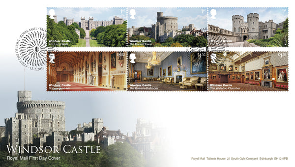 (g) Windsor Castle First Day Cover Tallents House FDI Cancel - 3773051
