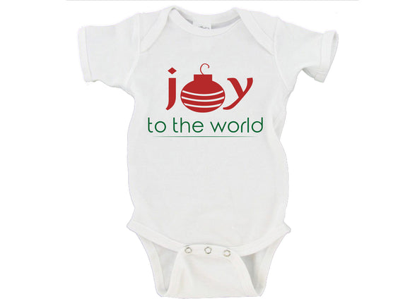 Joy To The World Merry Christmas Gerber Onesie ®