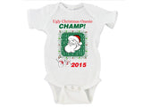 Ugly Christmas Onesie Champ Merry Christmas Gerber Onesie ®