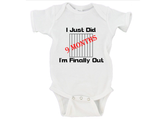 I Just Did 9 Months I'm Finally Getting Out Gerber Onesies ®