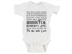 Potter Head Wizard Witch Onesie Gerber Onesie ®