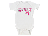 I Wear Pink For My Mom / Aunt / Grandma / Sister Gerber Onesies ®