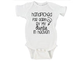 Handpicked for Earth By My Grandma in Heaven (Custom Name) w/ Arrow Gerber Onesie ®