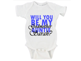Will You Be My Godmother Auntie (NAME HERE)? Gerber Onesie ®
