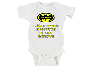 I Spent 9 Months in the Batcave Gerber Onesies ®