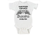 Handpicked for Earth By My Grandma in Heaven (Custom Name) Gerber Onesie ®