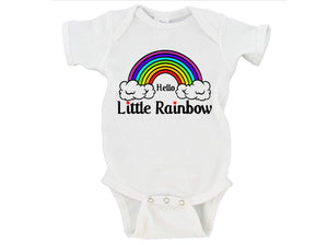 Hello Little Rainbow Baby Bodysuit Onesie - RB4
