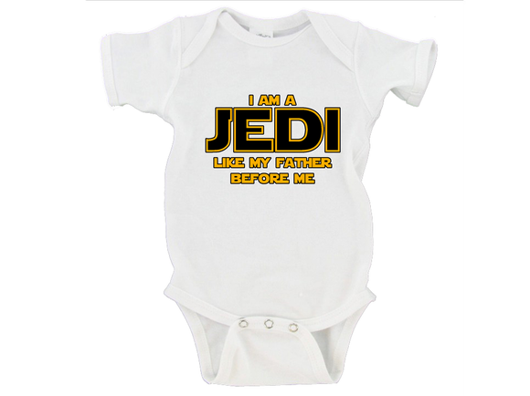I Am A Jedi Like My Father Before Me Gerber Onesie ®