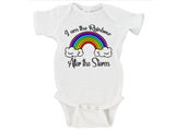 I Am The Rainbow After The Storm Rainbow Baby Bodysuit Onesie - RB5