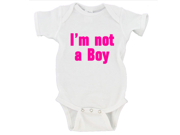 I'm Not A Boy Gerber Onesie ®