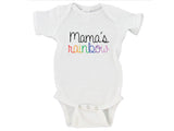 Mama's Rainbow Custom Name Rainbow Baby Bodysuit Onesie - RB2
