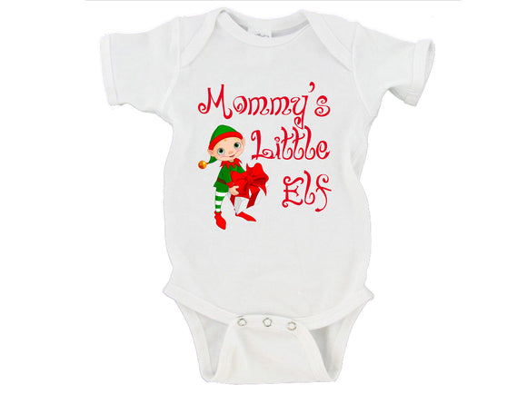 Mommy's Little Elf Merry Christmas Gerber Onesie ®