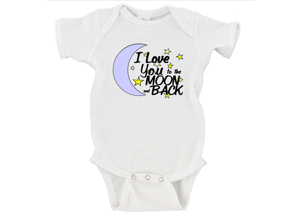 I Love You To The Moon And Back Gerber Onesies ®