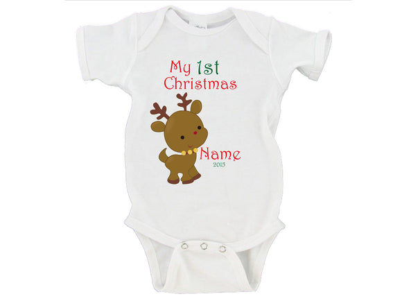 My First Christmas 2016 Custom Name Gerber Onesie ® Christmas Gift
