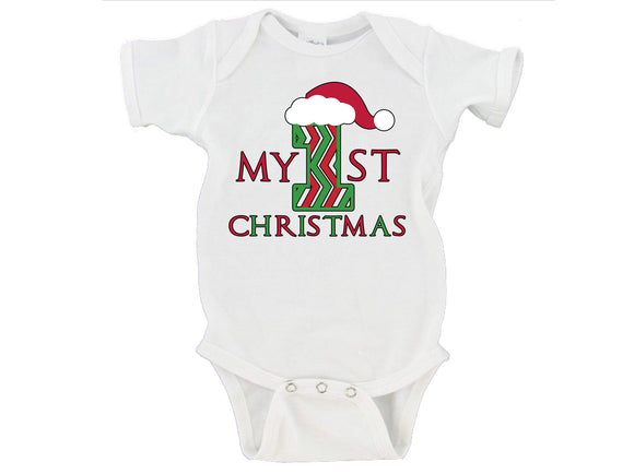 My First Christmas Santa Hat Merry Christmas Gerber Onesie ®