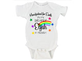 Handpicked For Earth By My Brother/Sister In Heaven Custom Name Rainbow Baby Bodysuit Onesie - RB1