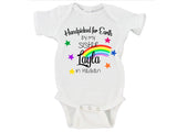 Handpicked For Earth By My Sister/Brother In Heaven Custom Name Rainbow Baby Bodysuit Onesie - RB1