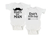 Dad's Little Lady | Dad's Little Man Gerber Onesie ® Twin Set