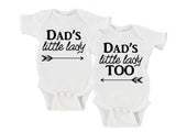 Dad's Little Lady | Dad's Little Lady Too Gerber Onesie ® Twin Set