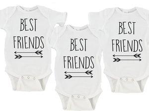Best Friends Set of 3 Gerber Onesie ® Twin Set
