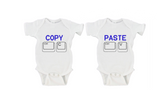 Copy and Paste Gerber Onesie ® | Twin Set