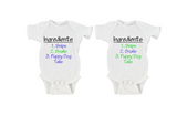 What Are Little Boys and Girls Made Of? | Twin Set Gerber Onesie ®
