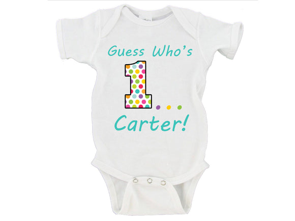 Guess Who's One First Birthday Gerber Onesie ®