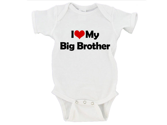 I Heart Love My Big Brother / Big Sister / Brother / Sister Gerber Onesie ®