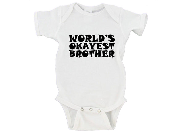 World's Okayest Brother Gerber Onesie ®