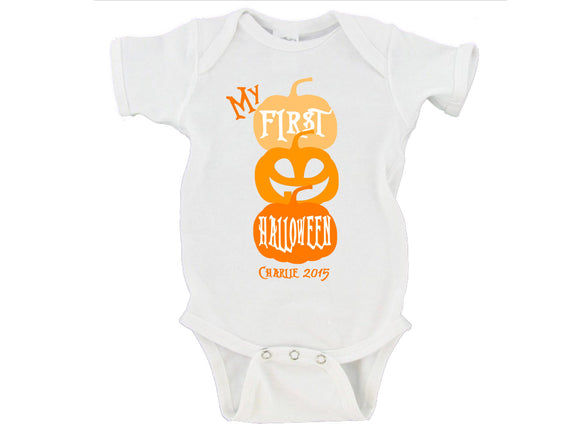 My First Halloween Custom Name Option 2015 Gerber Onesie ®