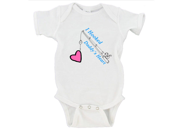 I Hooked Daddy's Heart | Father's Day Gerber Onesie ®