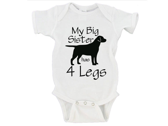My Big Brother / Sister Has 4 Legs Gerber Onesies ®