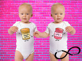 Peanut Butter and Jelly Gerber Onesie Twin Set ®