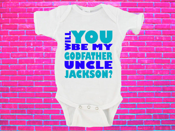 Will You Be My Godfather Uncle NAME Gerber Onesie ®