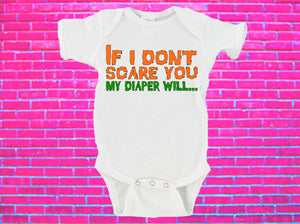 If I Don't Scare You My Diaper Will Halloween Gerber Onesie ®