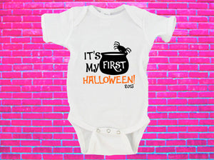 It's My First Halloween Witches Cauldron Gerber Onesie ®