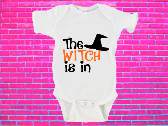 The Witch Is In Halloween Gerber Onesie ®