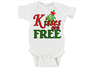 Kisses Are Free Gerber Onesie ® Christmas Gift